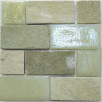 Studio E Edgewater Stone Steps Glass and Slate Mosaic & Wall Tile - 5 in. x 5 in. Tile Sample-DISCONTINUED