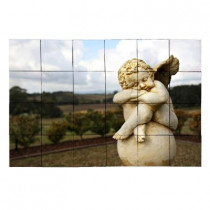 Tile My Style Angel2 36 in. x 24 in. Tumbled Marble Tiles (6 sq. ft. /case)