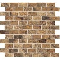 MARAZZI Jade 13 in. x 13 in. x 8-1/2 mm Chestnut Porcelain Mesh-Mounted Mosaic Floor and Wall Tile