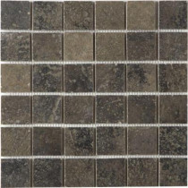 MARAZZI Terra 12 in. x 12 in. Bengal Slate Porcelain Mesh-Mounted Mosaic Tile-DISCONTINUED