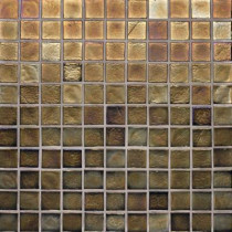 Studio E Edgewater Dusk 1 in. x 1 in. 11 3/4 in. x 11 3/4 in. Glass Floor & Wall Mosaic Tile-DISCONTINUED