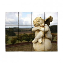 Tile My Style Angel2 24 in. x 18 in. Tumbled Marble Tiles (3 sq. ft. /case)