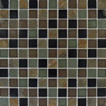 MS International California Gold 12 in. x 12 in. x 8 mm Glass Stone Mesh-Mounted Mosaic Tile