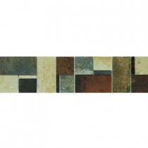 U.S. Ceramic Tile Argos 4-1/4 in. x 17 in. Multicolor Porcelain Border Mosaic Tile-DISCONTINUED