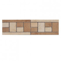 Emser 4 in. x 13 in. Coliseum #10 Glazed Porcelain Floor Listello -Each-DISCONTINUED