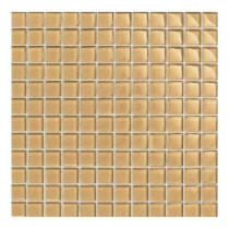 Daltile Maracas Golden Rod 12 in. x 12 in. 8mm Glass Mesh Mounted Mosaic Wall Tile (10 sq. ft. / case)-DISCONTINUED