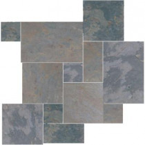 Daltile Natural Stone Collection Indian Multicolor Versailles Pattern Slate Floor and Wall Tile Kit (15.75 sq. ft. / kit)