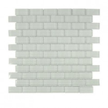 Jeffrey Court Glacier Ice 1x2 Brick 12 in. x 12 in. x 8 mm Glass Mosaic Wall Tile