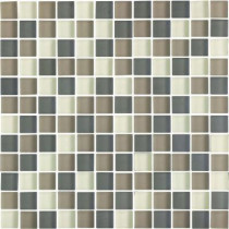 EPOCH Color Blends Selva Neblina-1601-M Matte Mosaic Glass Mesh Mounted Tile - 4 in. x 4 in. Tile Sample-DISCONTINUED