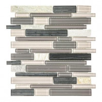 Jeffrey Court Platinum Pearl Pencil 10.625 in. x 12 in. x 8 mm Quartz and Glass Mosaic Wall Tile
