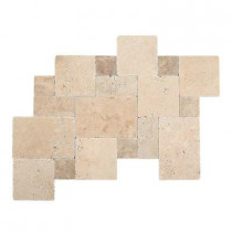 Daltile Travertine Peruvian Cream Paredon Pattern Natural Stone Floor and Wall Tile Kit (6 sq. ft. / case)