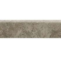 Daltile Heathland Sage 3 in. x 12 in. Glazed Ceramic Bullnose Floor and Wall Tile