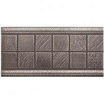 Weybridge 3 in. x 6 in. Cast Metal Mosaic Deco Brushed Nickel Tile (10 pieces / case) - Discontinued