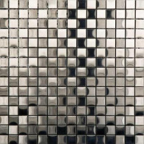 PORCELANOSA Acero 12 in. x 12 in. Stainless-Steel Trim Mosaic Tile