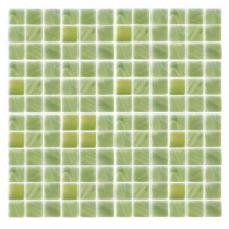 Epoch Architectural Surfaces Spongez S-Green-1406 Mosiac Recycled Glass Mesh Mounted Floor & Wall Tile - 4 in. x 4 in. Tile Sample-DISCONTINUED