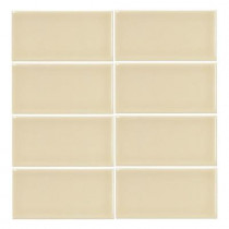 Jeffrey Court Summer Wheat Gloss 3 in. x 6 in. Ceramic Wall Tile (1pk /8 pcs-1 sq. ft.)