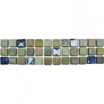 MS International Mixed Slate/Metro Glass Listello 3 in. x 12 in. Floor and Wall Tile (1 in. ft. / piece)