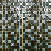 MS International Black Marquee 12 in. x 12 in. x 8 mm Glass Stone Mesh-Mounted Mosaic Tile (10 sq. ft. / case)