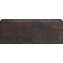 U.S. Ceramic Tile Avila Marron 12 in. x 3-1/4 in. Glazed Ceramic Single Bullnose Tile-DISCONTINUED