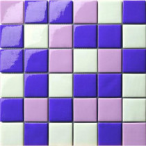 Elementz 12.5 in. x 12.5 in. Capri Viola Mix Glossy Glass Tile-DISCONTINUED