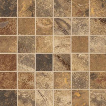 MARAZZI Jade Chestnut 13 in. x 13 in. x 8-1/2 mm Glazed Porcelain Floor and Wall Mosaic Tile