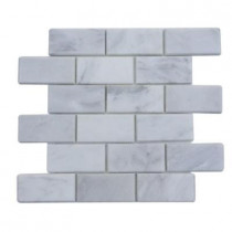 Splashback Tile Oriental 12 in. x 12 in. x 8 mm Marble Floor and Wall Tile