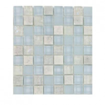 Splashback Tile Mist Trail Blend Marble and Glass Tile Sample