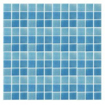 Epoch Architectural Surfaces Spongez S-Light Blue-1408 Mosiac Recycled Glass Mesh Mounted Floor and Wall Tile - 3 in. x 3 in. Tile Sample