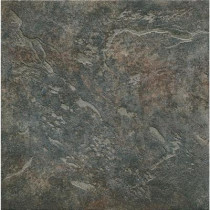 ELIANE Mt. Everest Nero 18 in. x 18 in. Glazed Porcelain Floor & Wall Tile (13.13 Sq. ft./Case)-DISCONTINUED