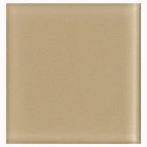 U.S. Ceramic Tile Glass Beige 4 in. x 4 in. Unglazed Insert Wall Tile