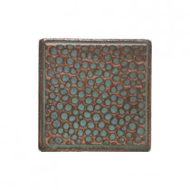Daltile Castle Metals 2 in. x 2 in. Aged Copper Metal Insert B Accent Wall Tile