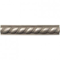 MS International Pewter Listello Rope 1 in. x 6 in. Metal Molding Wall Tile