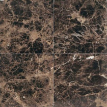 Daltile Natural Stone Collection Emperador Dark 12 in. x 12 in. Polished Marble Floor and Wall Tile (10 sq. ft. / case)