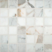 MS International Calacatta Gold 12 in. x 12 in. x 10 mm Polished Marble Mesh-Mounted Mosaic Tile
