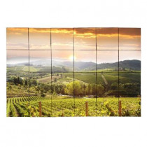 Tile My Style Vineyard5 36 in. x 24 in. Tumbled Marble Tiles (6 sq. ft. /case)