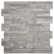 Jeffrey Court Fortress Splitface 12.5 in. x 12.5 in. x 8 mm Marble Mosaic Wall Tile