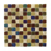 Jeffrey Court Smokey Suede Glass 12 in. x 12 in. Wall Tile-DISCONTINUED