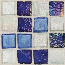 Daltile Egyptian Glass Sapphire Collag 12 in. x 12 in. x 6 mm Glass Face-Mounted Mosaic Wall Tile