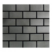 Daltile Urban Metals Stainless 12 in. x 12 in. x 8 mm Composite Brick-Joint Mesh-Mounted Mosaic Wall Tile