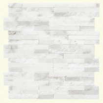 Jeffrey Court Churchill White Split Face 11.75 in. x 12.5 in. x 8 mm Marble Mosaic Wall Tile (5.5 lb. / Each)