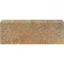 U.S. Ceramic Tile Craterlake Fuego 3 in. x 12 in. Glazed Ceramic Single Bullnose Tile-DISCONTINUED