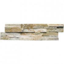 MS International Golden Honey Ledger Panel 6 in. x 24 in. Natural Quartzite Wall Tile (6 sq. ft. / case)