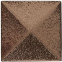 Weybridge 2 in. x 2 in. Cast Metal Pyramid Dot Classic Bronze Tile (10 pieces / case) - Discontinued
