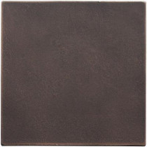 Weybridge 4 in. x 4 in. Cast Metal Field Tile Dark Oil Rubbed Bronze Tile (8 pieces / case) - Discontinued