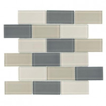 Jeffrey Court Rocky Canyon 12 in. x 12 in. 8 mm Glass Mosaic Wall Tile