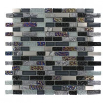 Splashback Tile Seattle Skyline Blend Bricks 12 in. x 12 in. x 8 mm Marble and Glass Mosaic Floor and Wall Tile