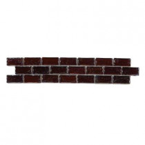 Jeffrey Court Copper 2 in. x 12 in. Glass Accent Strip