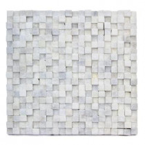 Solistone Cubist Salon 12 in. x 12 in. x 22.2 mm Marble Mesh-Mounted Mosaic Wall Tile (5 sq. ft./Case)