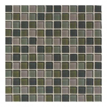 Daltile Maracas Everglades Blend 12 in. x 12 in. 8mm Glass Mesh Mount Mosaic Wall Tile (10 sq. ft. / case)-DISCONTINUED