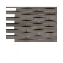 Splashback Tile 3D Reflex Crema Marfil Stone Tile Sample